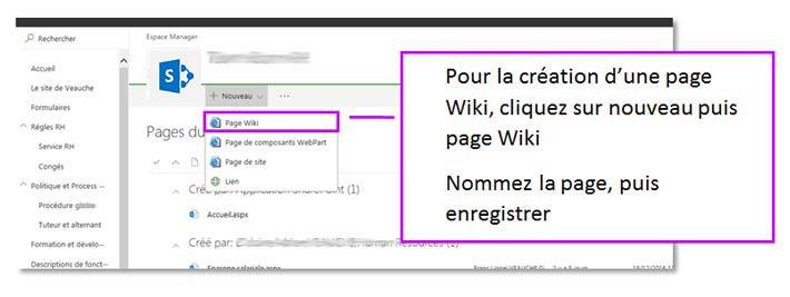 Création du page wiki SharePoint