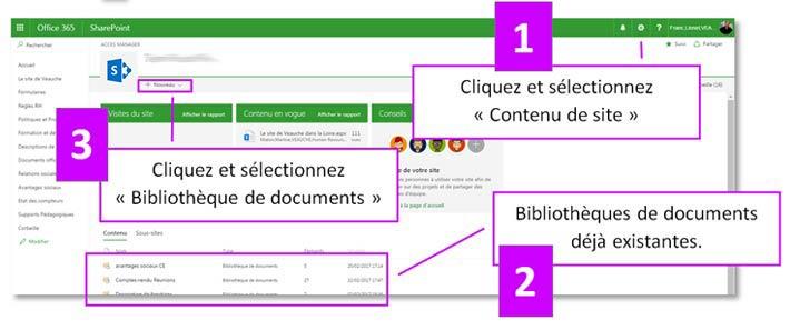 Créer une bibliothèque de document SharePoint Online