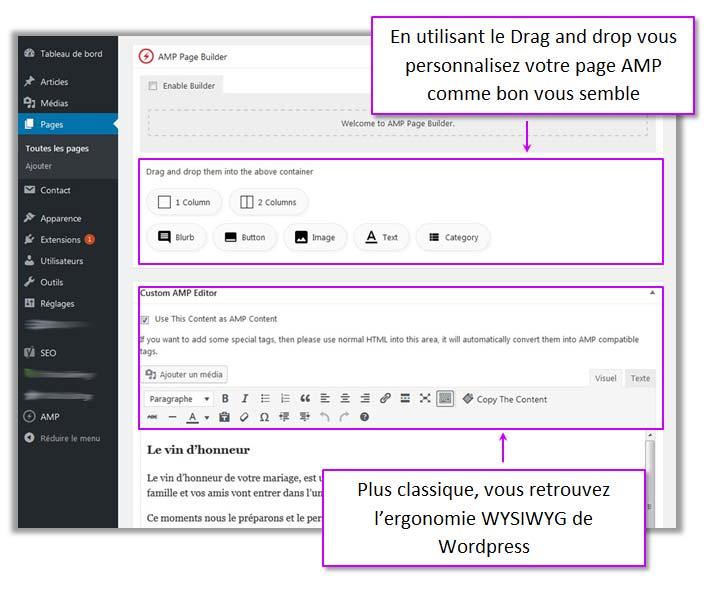 """Personnalisation des """"Page"""" et """"Post"""" WordPress"""